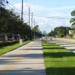 North Bay Trail - Looking South along 1st Street NE