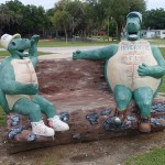 Withlacoochee State Trail - Inverness Trailhead Turtle Sculptures