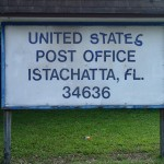 Withlacoochee State Trail - Istachatta Post Office Sign